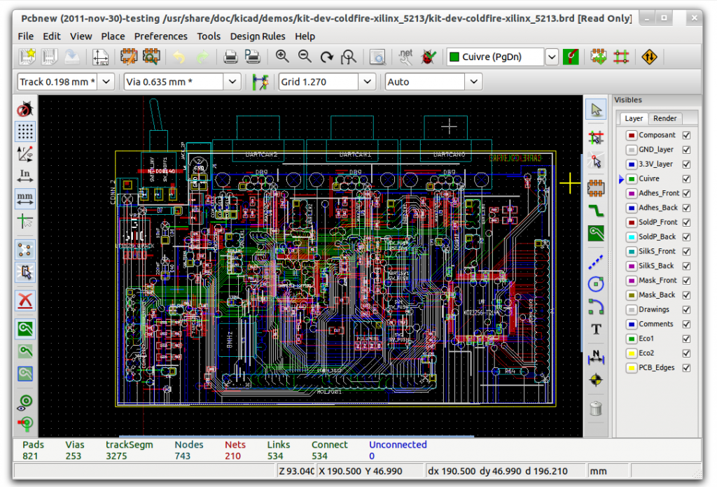 Kicad_main_window_screenshot