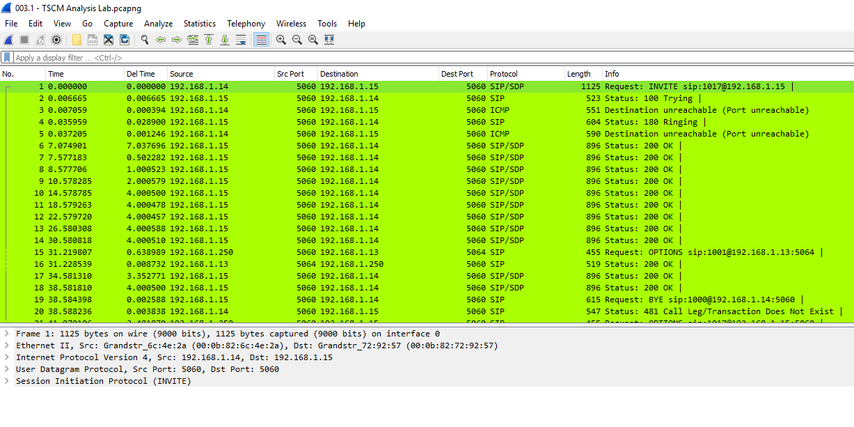 Wireshark VoIP Challenge