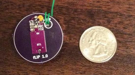 Quarter sized transmitter